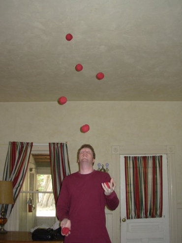 Juggling seven balls at the Hastings Reserve